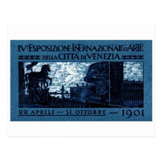 Cartão Postal Poster 1901 da exibição da arte de Veneza