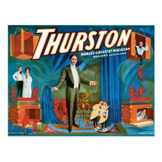 Cartão Postal Poster 1910 do mágico do vintage de Thurston
