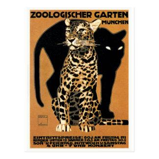 Cartão Postal Poster 1912 do jardim zoológico de Munich do
