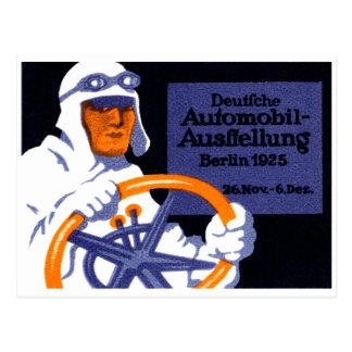 Cartão Postal Poster 1925 da feira automóvel de Berlim