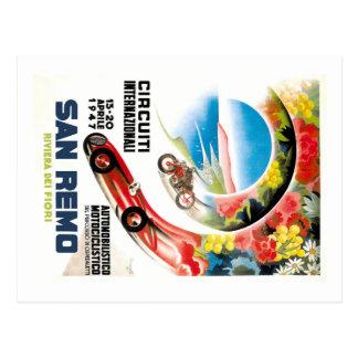 Cartão Postal Poster 1947 grande da raça de San Remo Prix