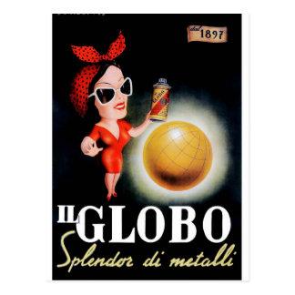 Cartão Postal Poster 1949 italiano da propaganda do IL Globo