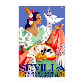 Cartão Postal Poster 1952 justo de abril da espanha de Sevilha