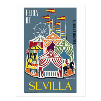 Cartão Postal Poster 1960 do festival de Sevilha da espanha