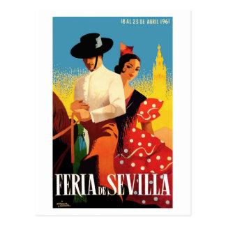 Cartão Postal Poster 1961 justo de Sevilha abril da espanha