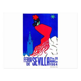Cartão Postal Poster 1964 justo de Sevilha abril da espanha