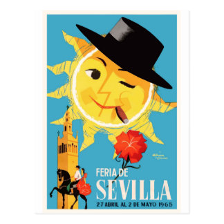 Cartão Postal Poster 1965 justo de abril da espanha de Sevilha