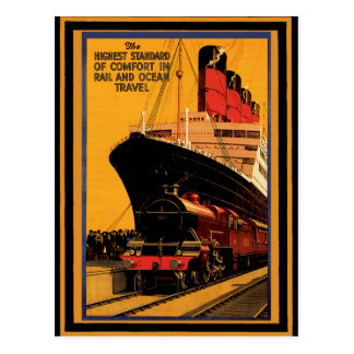 Cartão Postal Poster 19 das viagens vintage