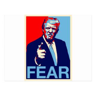 """Cartão Postal Poster 2017 da paródia do """"medo"""" de Donald Trump"""