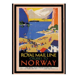 Cartão Postal Poster 34 das viagens vintage