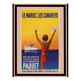 Cartão Postal Poster 45 das viagens vintage