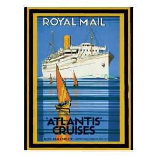 Cartão Postal Poster 5 das viagens vintage