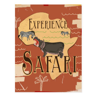Cartão Postal Poster africano das viagens vintage do safari da