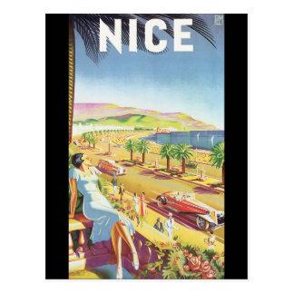 Cartão Postal Poster agradável das viagens vintage