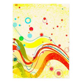 Cartão Postal Poster amarelo do jazz