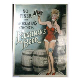 Cartão Postal Poster da cerveja do vintage, não mais fino os