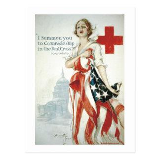 Cartão Postal Poster da cruz vermelha - eu chamo-o!