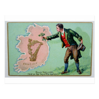 Cartão Postal Poster da ilha dos erin do dia de Patrick de santo