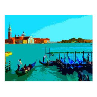 Cartão Postal Poster da paisagem de Veneza