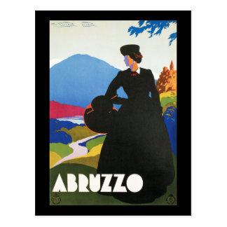 Cartão Postal Poster da propaganda das viagens vintage de