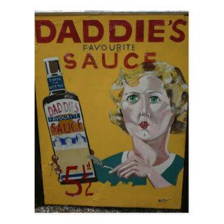 Cartão Postal Poster da propaganda do vintage do molho de Daddie