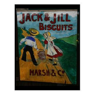 Cartão Postal Poster da propaganda do vintage dos biscoitos de