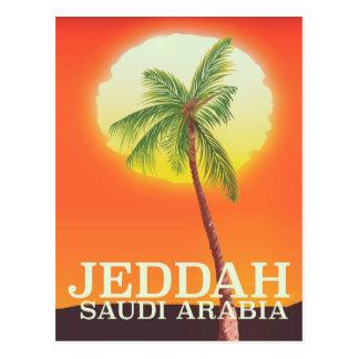 Cartão Postal Poster das férias de Jeddah Arábia Saudita
