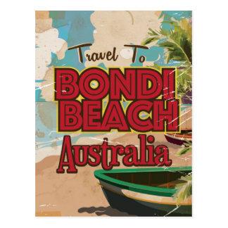 Cartão Postal Poster das férias do vintage de Austrália da praia
