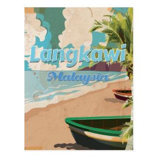 Cartão Postal Poster das férias do vintage de Langkawi Malaysia