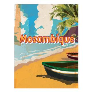 Cartão Postal Poster das férias do vintage de Mozambique
