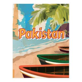 Cartão Postal Poster das férias do vintage de Paquistão