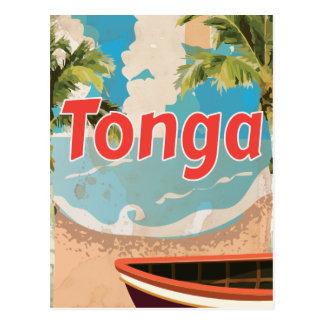 Cartão Postal Poster das férias do vintage de Tonga