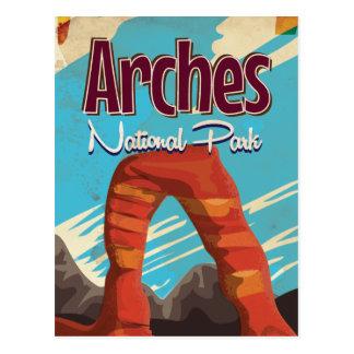 Cartão Postal Poster das férias do vintage do parque nacional