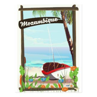 Cartão Postal Poster das férias dos desenhos animados do barco