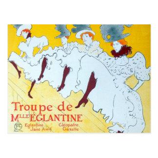 Cartão Postal Poster das meninas de dança de Toulouse-Lautrec