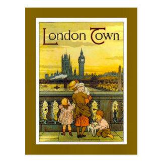 Cartão Postal Poster das viagens vintage, cidade de Londres,