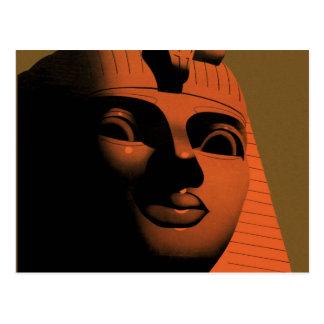 Cartão Postal Poster das viagens vintage com esfinge, Egipto,