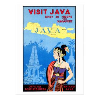 Cartão Postal Poster das viagens vintage da Batávia Java