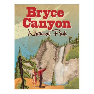 Cartão Postal Poster das viagens vintage da garganta de Bryce
