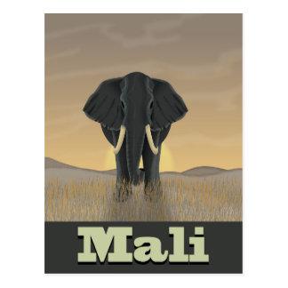 Cartão Postal Poster das viagens vintage da paisagem de Mali