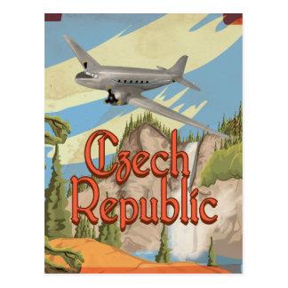 Cartão Postal Poster das viagens vintage da república checa