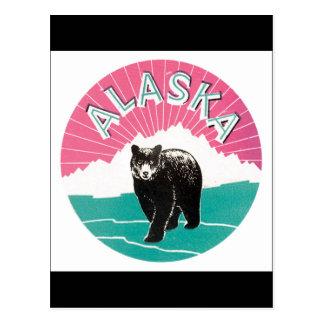 Cartão Postal Poster das viagens vintage de Alaska
