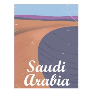 Cartão Postal Poster das viagens vintage de Arábia Saudita