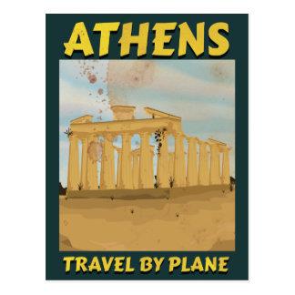 Cartão Postal Poster das viagens vintage de Atenas