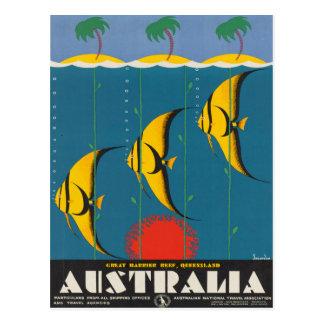 Cartão Postal Poster das viagens vintage de Austrália Queensland