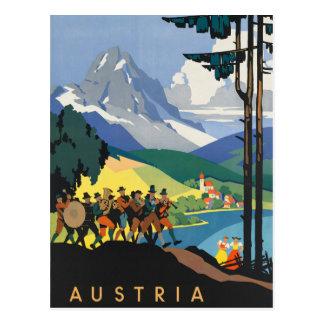 Cartão Postal Poster das viagens vintage de Áustria