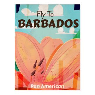 Cartão Postal Poster das viagens vintage de Barbados