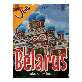 Cartão Postal Poster das viagens vintage de Belarus