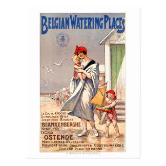 Cartão Postal Poster das viagens vintage de Bélgica Ostende