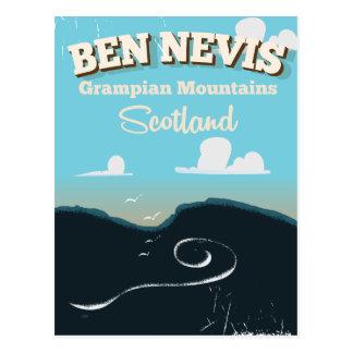 Cartão Postal Poster das viagens vintage de Ben Nevis